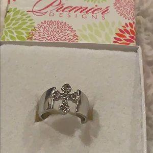 Premier Design silver cross ring